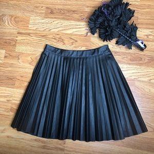 Material Girl black faux pleated mini skirt